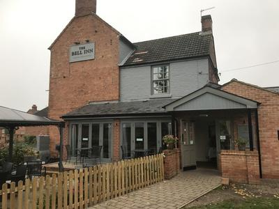 The Bell Inn country pub in Anslow, Burton-on-Trent. Our lovely beer garden